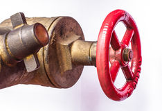 Fire hose couplings Stock Photos