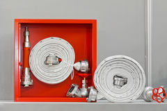 Fire hose equipment Royalty Free Stock Image