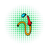 Fire hose icon, comics style Stock Photo