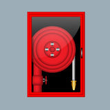 Fire hose illustration. Fire hose illustration over a grey background Royalty Free Stock Photography