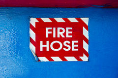 Fire hose label Royalty Free Stock Photos