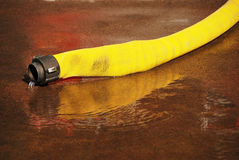 Fire Hose Leak Royalty Free Stock Photos