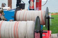 Fire hose reel Stock Image