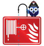 Fire hose reel sign Stock Images
