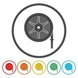 Fire hose reel vector illustration, Fire station icon. Vector icon royalty free illustration