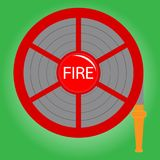 Fire hose reel Stock Images