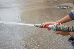 Fire hose spray nozzle 2 Royalty Free Stock Photo