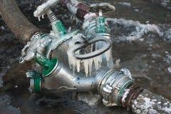 Fire hose valve Stock Photo