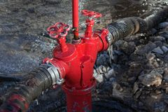 Fire hose valve Royalty Free Stock Photo