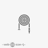 Fire hose vector icon Royalty Free Stock Photos