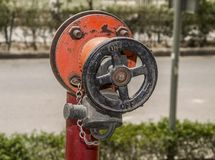 Fire hose wheel Royalty Free Stock Photo