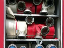 Fire hoses Stock Image