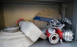Fire hoses stock photography