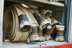 Fire hoses Royalty Free Stock Photo