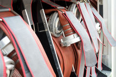 Fire hoses Stock Photo