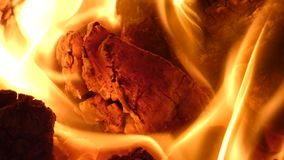 Fire - Hot Burning Coal Lumps in Fireplace Heating Fuel