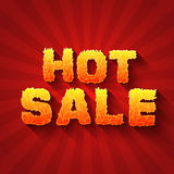 Fire hot sale text on a red background concept. Royalty Free Stock Photo