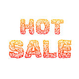 Fire hot sale text on a red background concept. Royalty Free Stock Image