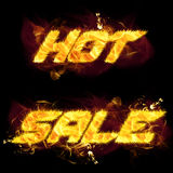 Fire Text Hot Sale vector illustration