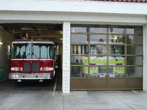 Fire House Engines. City Fire House Engines Royalty Free Stock Image