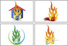 Fire house. Illustration art of a fire house with isolated background Stock Photo
