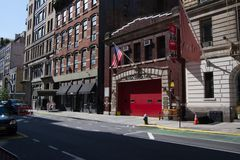 Fire house Ladder 3 involved in NYC 911 attacks. Fire House Ladder 3 in the East Village whose first responders died in the 911 attacks royalty free stock photography