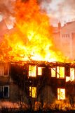 Fire in a house Royalty Free Stock Photos