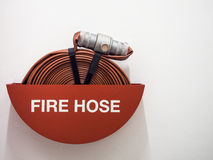 Fire house safety equipment. On white background Royalty Free Stock Images