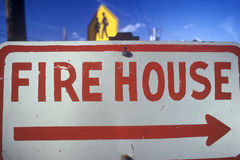 Fire House sign Stock Photo
