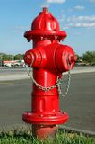Fire Hydrant. With a suburban background royalty free stock photos