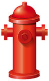 Fire hydrant. Illustration of a red fire hydrant on white background Stock Photography