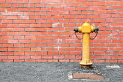 Fire Hydrant. On Road For Rescue Royalty Free Stock Photo