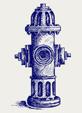 Fire Hydrant. Doodle style. Vector Royalty Free Stock Photo