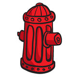 Fire hydrant. Red fire hydrant cartoon doodle Stock Photos