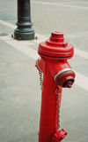 Fire hydrant. Red fire hydrant on road in Austria Royalty Free Stock Images