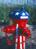 FIRE HYDRANT. Painted fire hydrant in patriotic colors Stock Images