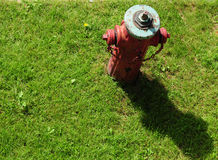 Fire hydrant aerial view Royalty Free Stock Photo