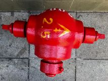 Fire Hydrant. The contradiction of colors royalty free stock photography
