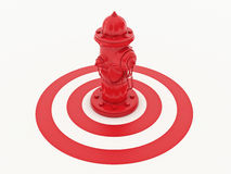 Fire hydrant. Design made in 3D Stock Images