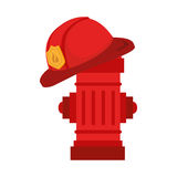 Fire hydrant design. Over white background, vector illustration eps10 Stock Image