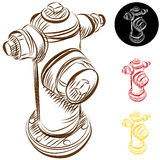Fire Hydrant Drawing. An image of a fire hydrant drawing Stock Photography