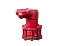 Fire hydrant for fireman, isolated background Stock Photo