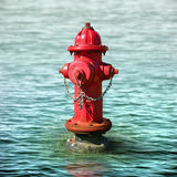 Fire Hydrant in a Flood Stock Photography