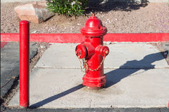 Fire hydrant on floor Royalty Free Stock Photo