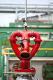 Fire hydrant heart design in factory. Fire hydrant red heart design Stock Images