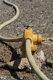 Fire Hydrant & Hose stock image
