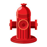 Fire hydrant icon in cartoon style. On a white background Royalty Free Stock Photos