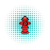Fire hydrant icon, comics style. Fire hydrant icon in comics style on a white background Royalty Free Stock Photo