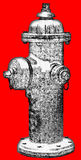 Fire Hydrant Illustration isolated Royalty Free Stock Photos