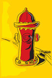 Fire hydrant. The  illustration - poster Fire hydrant Royalty Free Stock Photos